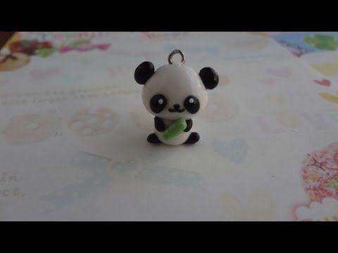 Panda en fimo avec son bambou - TUTO