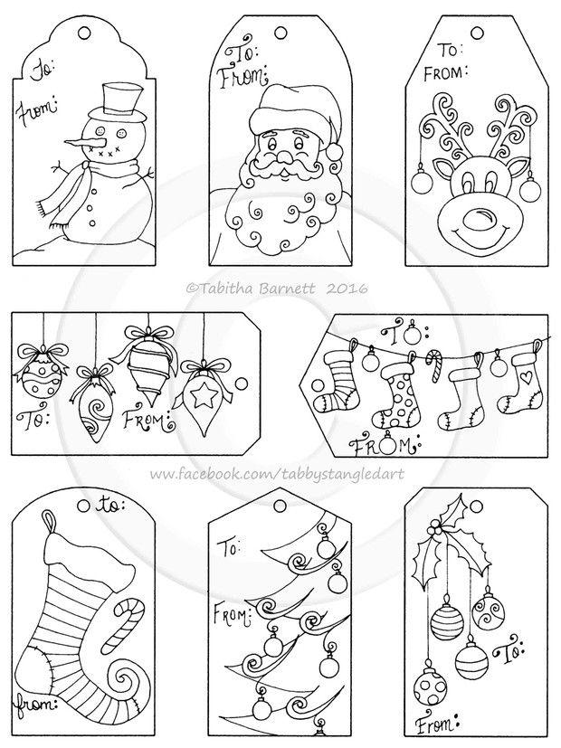 22++ Christmas present with tag coloring page info