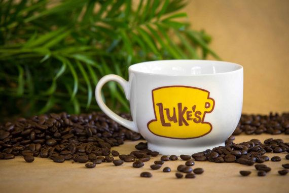 Enjoy these hand-painted Lukes Diner OR Dragonfly Inn mugs from Gilmore Girls as you settle into your 5th+ cup of coffee for the morning!