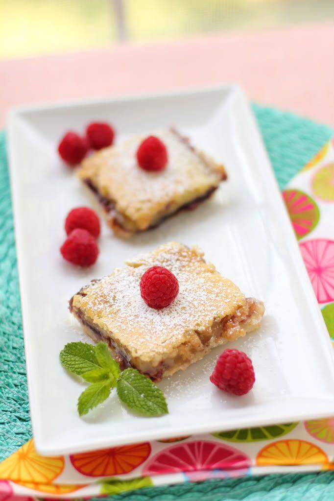 Perfect for a tea party! Lemon Raspberry Squares > Willow Bird Baking