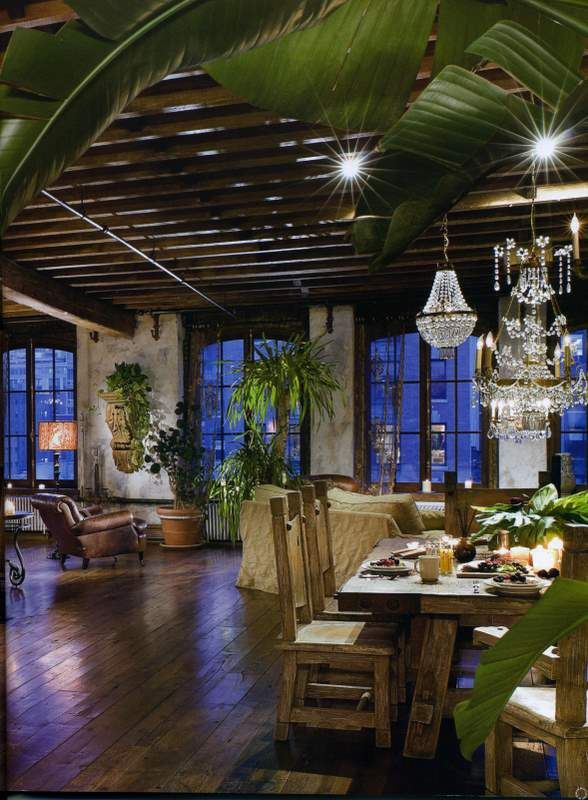 Gerard Butler NY Loft   The first time I read the article and saw the photos of this loft in Architectural Digest, I fell in love with the detail and style.