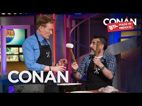 Team Coco: Conan Cooks With Chef Aquiles Chávez