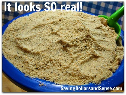 This Sand Pudding looks like the real thing and tastes even better! You will never believe what the sand is made out of!!