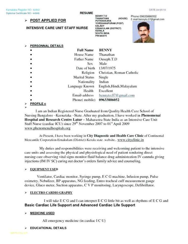 Kerala nursing resume template nursing resume resume