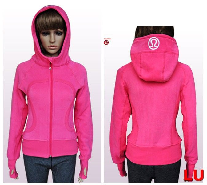 Cheap Lululemon Scuba Hoodies Pink Sale Online