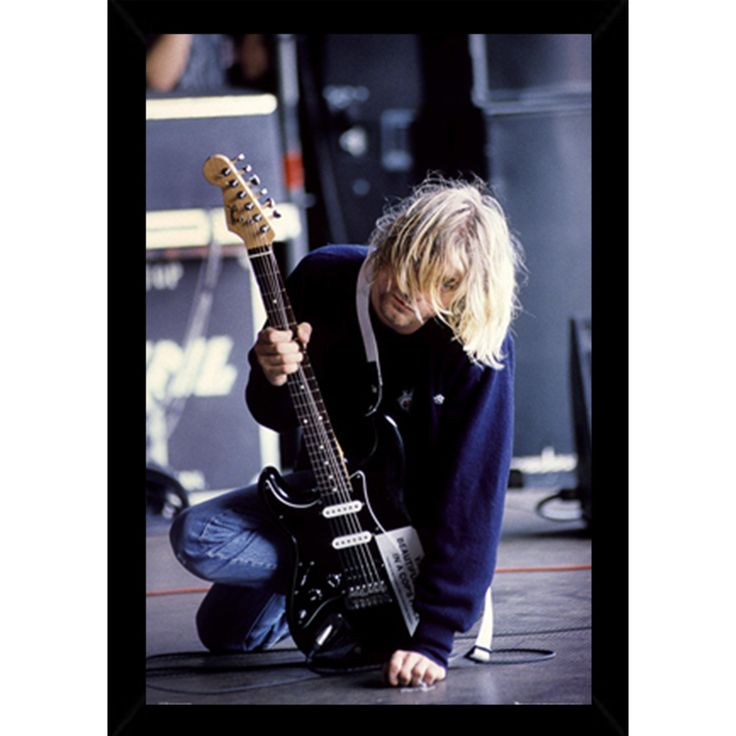 USA Kurt Cobain Guitar Poster With Choice of Frame