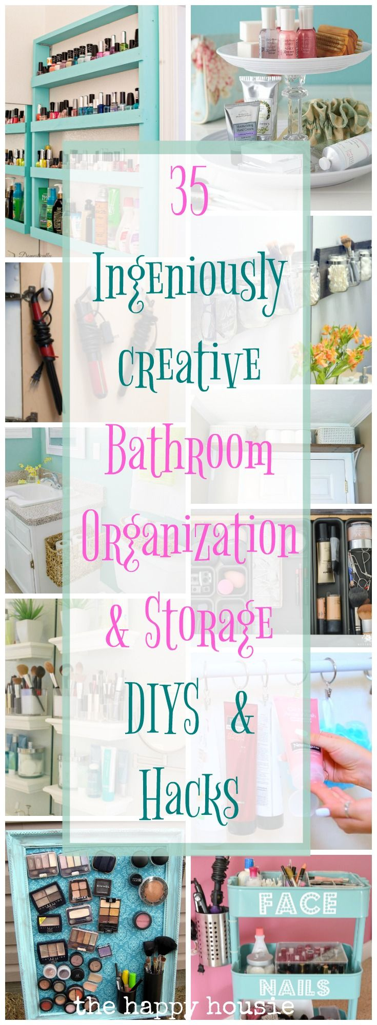 Ingenious Ideas & DIYs for Bathroom Organization & Storage - The Happy Housie
