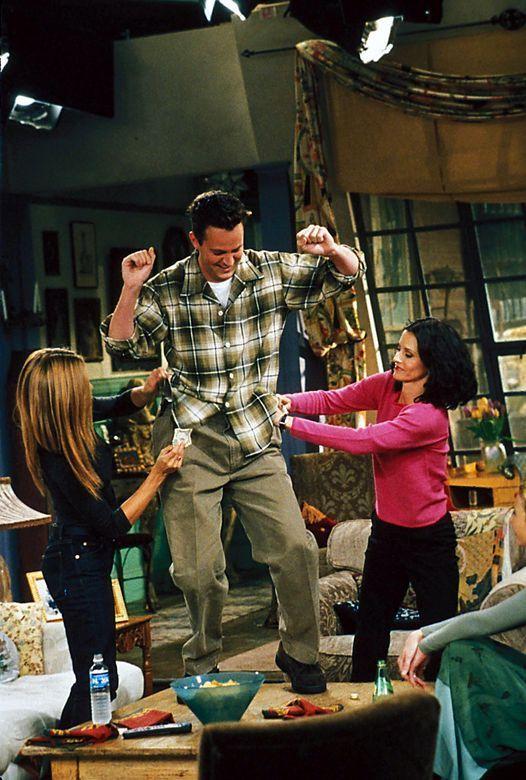 Chandler Bing dancing of course.