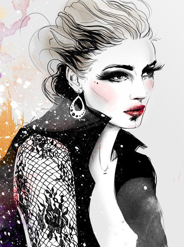 Fashion Illustration by Anna Ulyashina - 50 Beautiful Fashion Illustrations  <3 <3