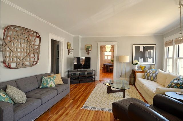 My Home - eclectic - living room - new york - by Kelly Donovan - stonington gray Benjamin Moore