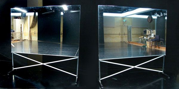 portable and rollable glassless mirrors for dance ballet martial