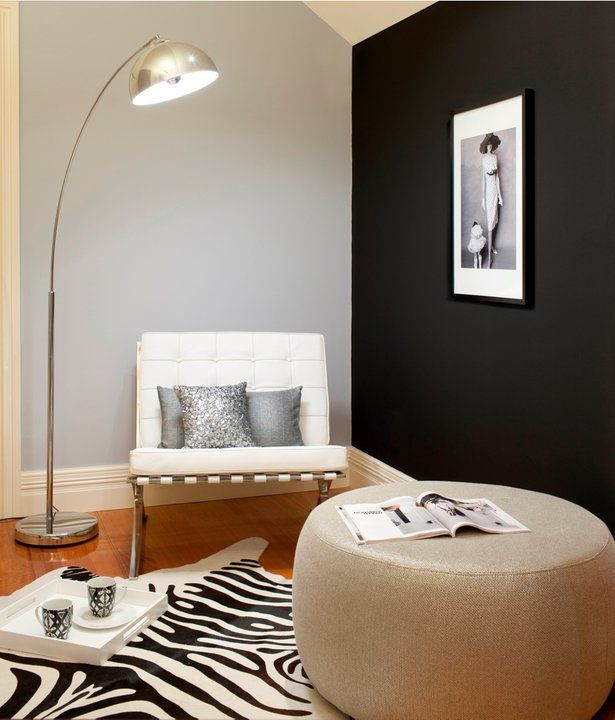 Black And Grey Interior   Inspirations Paint