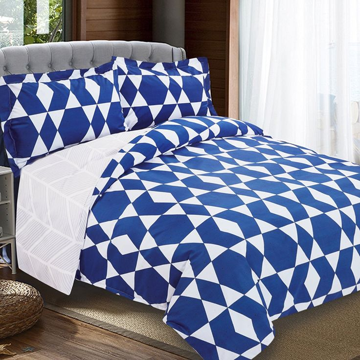 NTBAY 3 Pieces Duvet Cover Set Printed