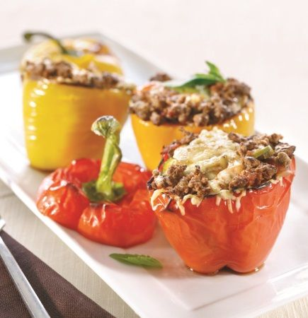 Our recommendation for a starter, give it a try and follow the full recipe here http://www.quorn.co.uk/recipes/mince-stuffed-peppers/  Quorn Meat Free Mince Parmigiana