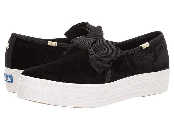 keds x kate spade new york triple decker velvet bow sneakers