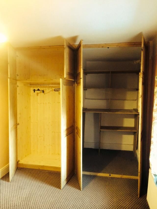 Fitted wardrobe Cornwall. Picture showing the inside of one of our fitted wardrobes: