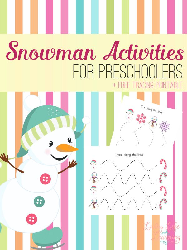 These awesome snowman activities can complement any book and grab your Snowman Tracing Worksheets for your preschooler.
