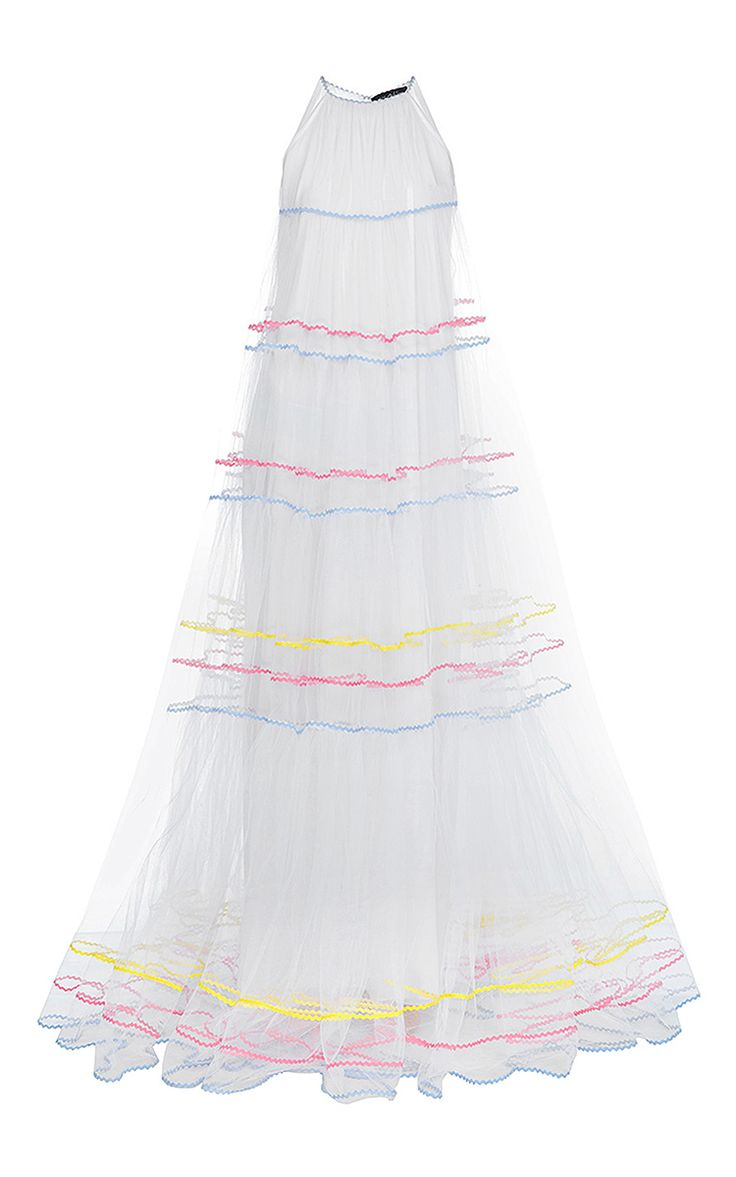 Tiered Ric Rac Maxi Dress by Anna October | Moda Operandi