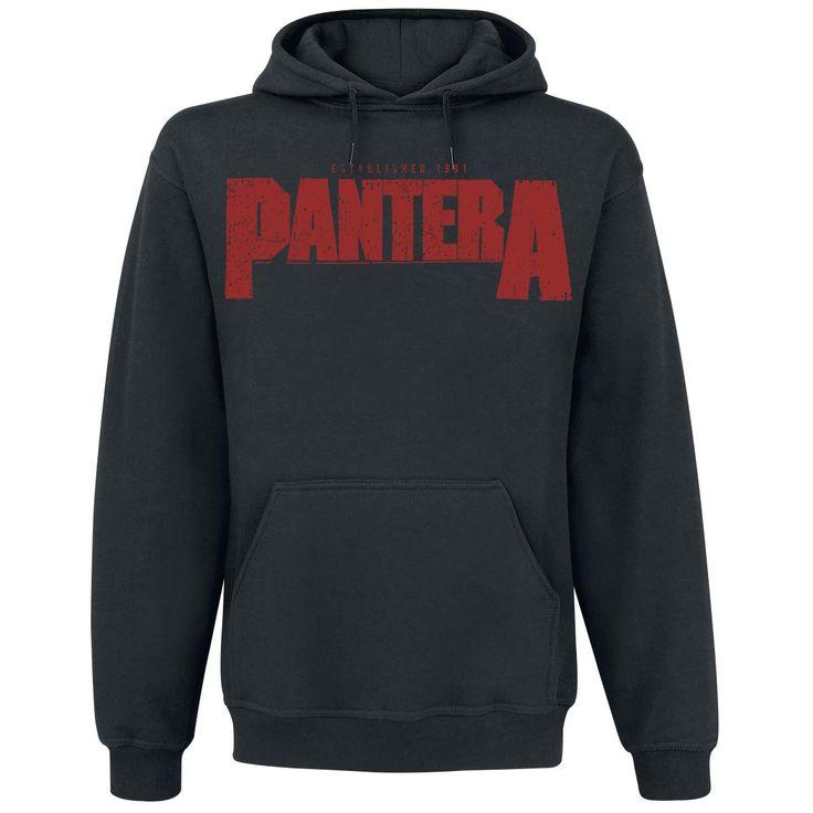 """Felpa uomo """"Vulgar Display Of Power"""" dei #Pantera nera dotata di cappuccio con coulisse, tasca canguro, orlo e polsini a costine, ampia stampa su fronte e retro."""