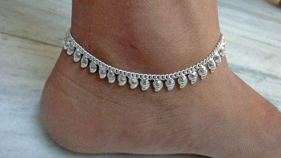 bracelet de cheville, bijoux de pied tzigane, chaîne de pied, bracelet de cheville indien, bracelet esclave, bracelet de cheville, bijoux de danse du ventre, cheville chaîne, bracelet de cheville indien ethnique