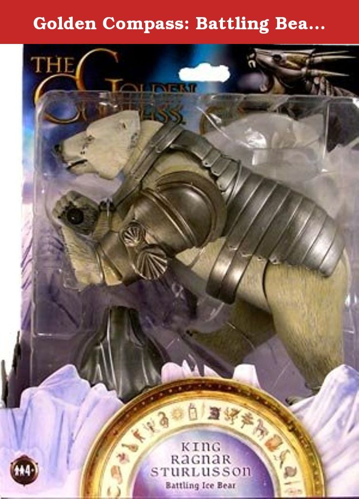 """Golden Compass: Battling Bear Action Figure - Ragnar. Relive the excitement of the Golden Compass movie with this Battling Bear figure. Ragnar features a slashing attack motion, battle scars and removable armor. Measures 7""""."""