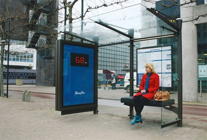 Fitness First weight bus stop