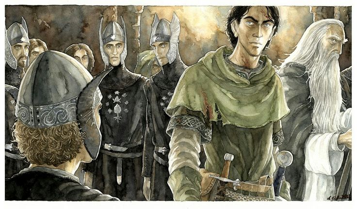 Pippin and Faramir by Anke-Katrin Eiszmann. Faramir is close to how I imagined him.