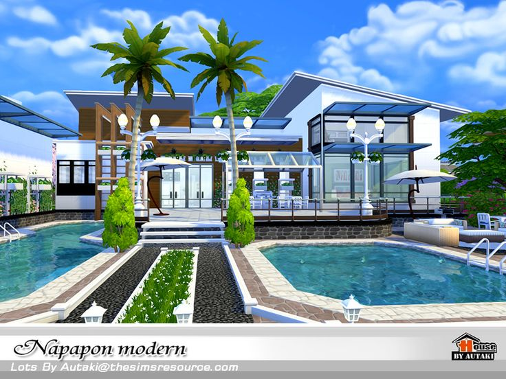 Napapon Modern  Found in TSR Category 'Sims 4 Residential Lots'