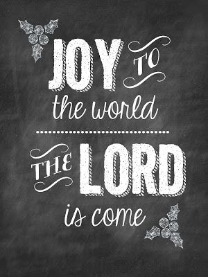 joy to the world Chalkboard Printable from Sweet Blessings