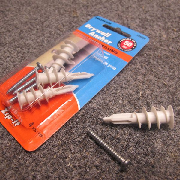 How to install a drywall anchor - very necessary when hanging heavy objects! #DIY