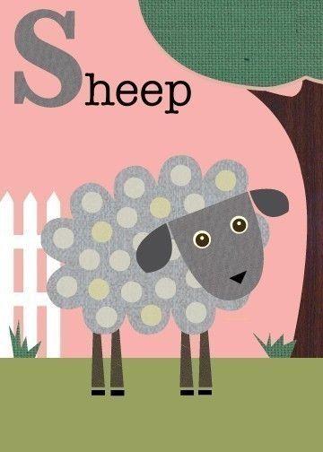 Jenn Ski - Letter S (sheep)