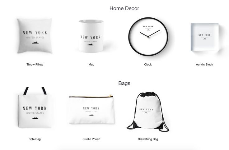 New York!- Home Decor, Bags, T-shirts and more. Available on Redbubble now.