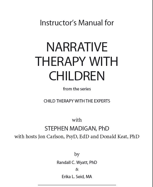 Instructor's Manual for Narrative Therapy with Children | Speech