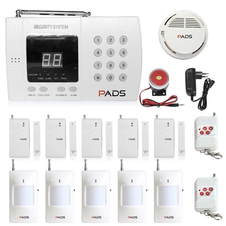 PADS Brand P61 99 Zones Home Burglar Security Auto Dial PSTN Alarm System Super Fire Alarm System Suitable To Villa Use