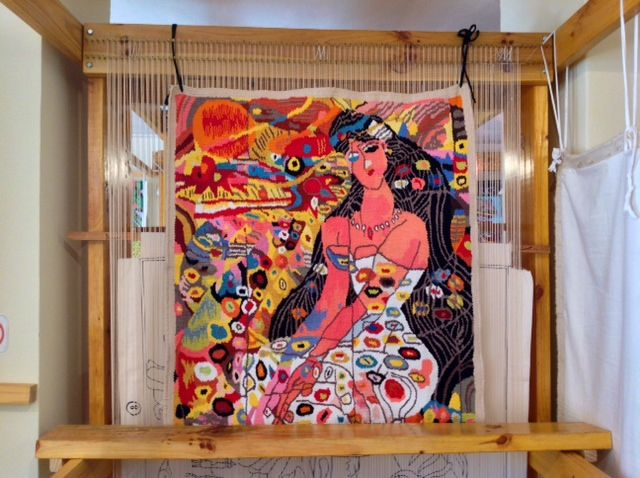 """ The Dragonfly Lady ""  tapestry"