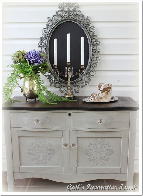 DIY- BEAUTIFUL GARAGE SAKE CABINET & MIRROR MAKEOVER ! Using CHALK BOARD PAINT