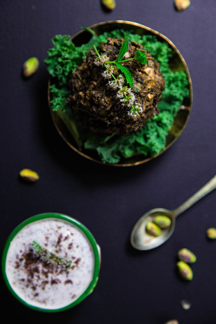 Middle Eastern Spinach and Kale Baked Fritters | Berries and Spice