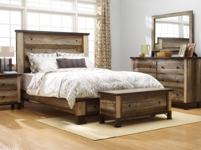 Beautiful multi-coloured bedroom set!  Solid Pine - Made In Mexico
