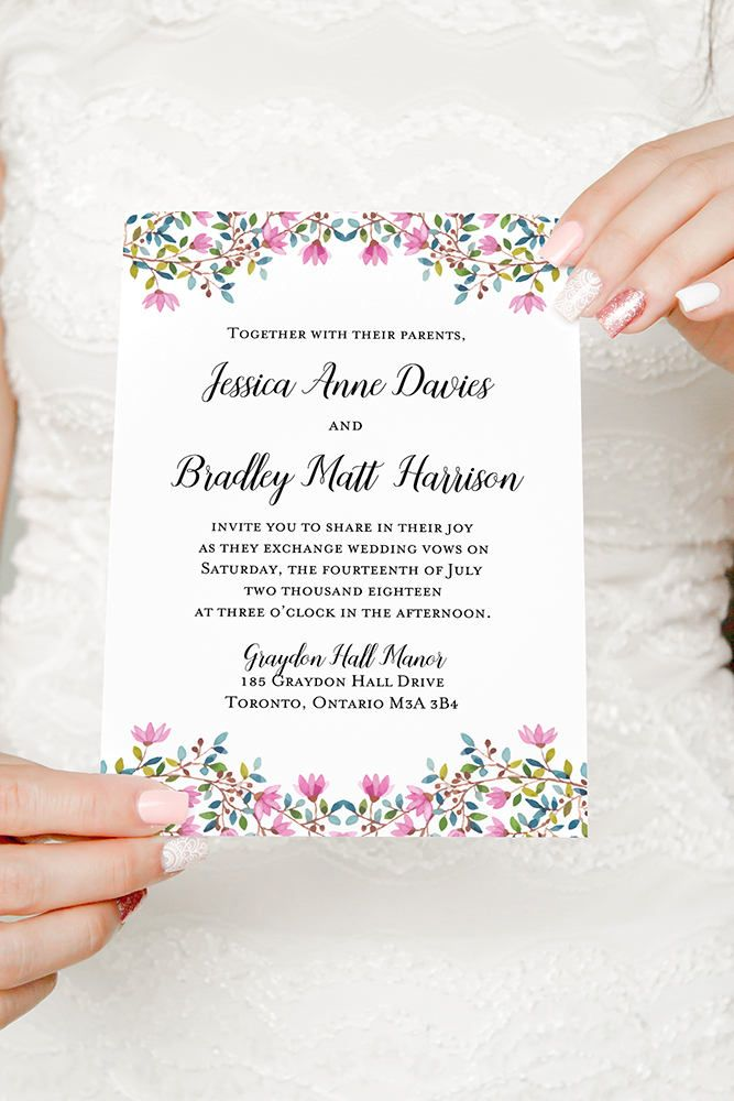 75 best spring wedding images on pinterest floral invitation pink wedding invitation printable watercolor wedding invitation rustic wedding invitation watercolor floral wedding invitation stopboris Image collections