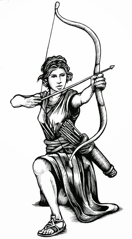 Ilustración con lápiz tinta