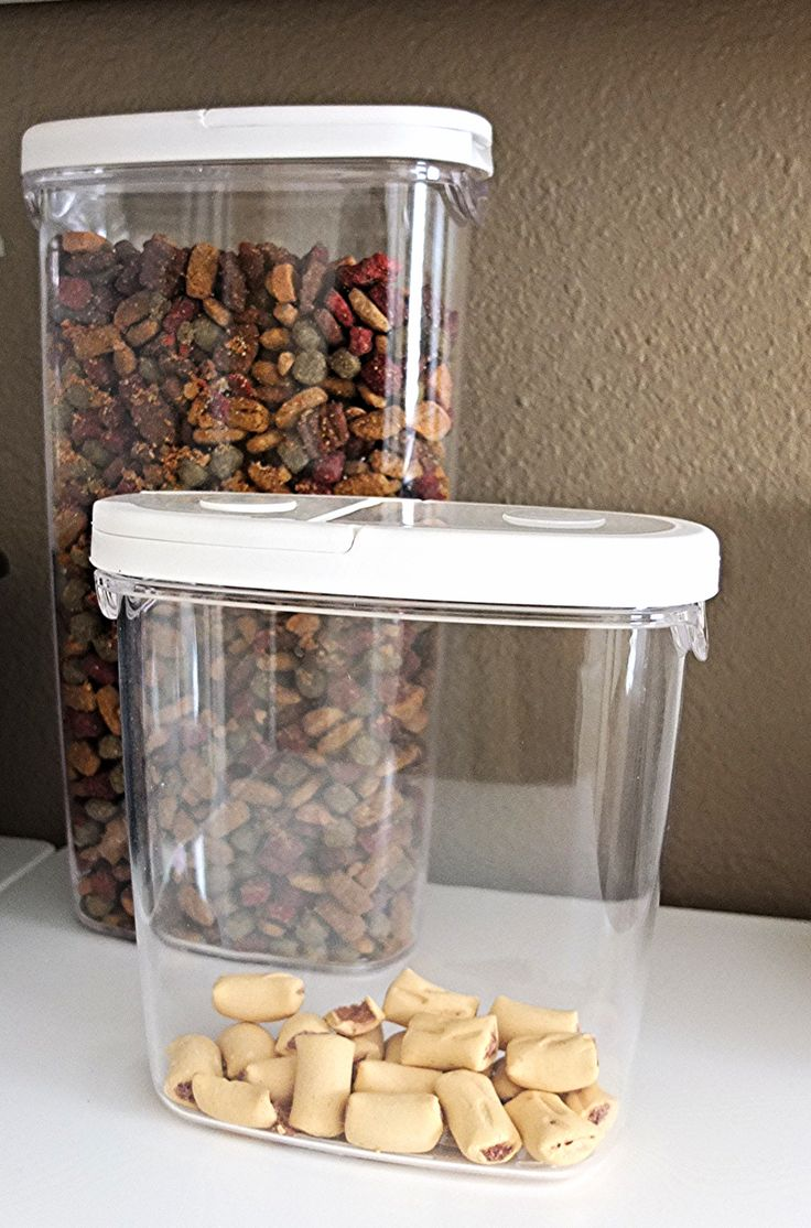 Clear containers like these IKEA 365+ jars keep food fresh and make it easy to spot when you need to refill.