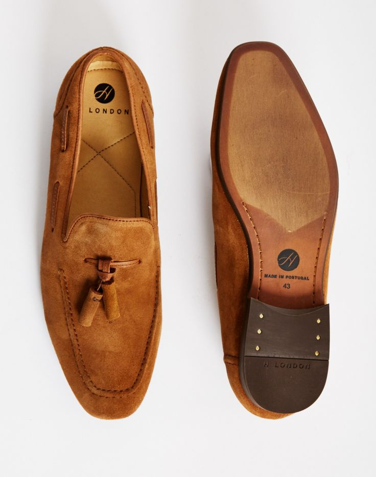 Hudson Piere Suede Tassle Loafer Tan with leather detailing, tassel and thick sole | Shop men's footwear and clothing at The Idle Man