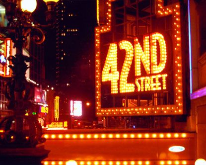 Broadway Theater District in New York City.