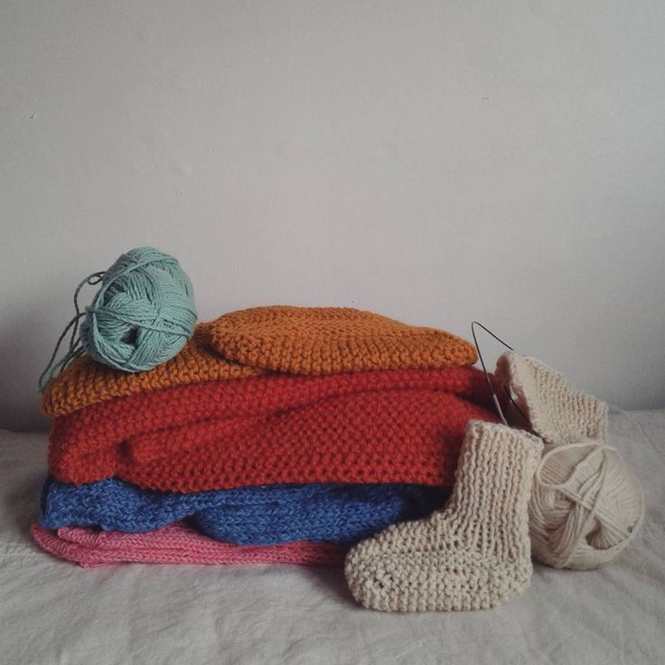 Una semana muy productiva 💛 #tejer #knit #algodon #cotton #lana #wool #alpaca