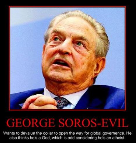 """""""The main obstacle to a stable and just world order is the United States,"""" Soros, 2006."""
