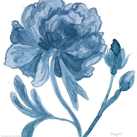 Navy Floral V