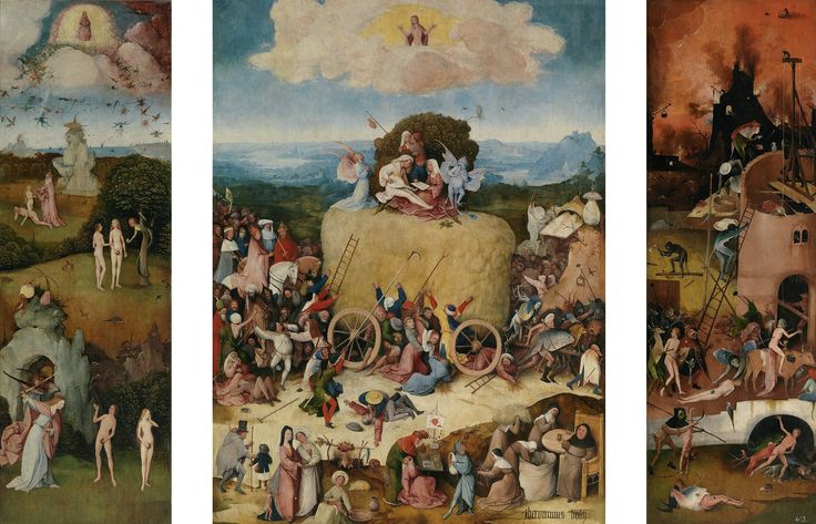 The Haywain Triptych, 1500 - 1502.