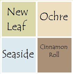 Paint scheme for the house.  All are Valspar Signature colors from Lowes.