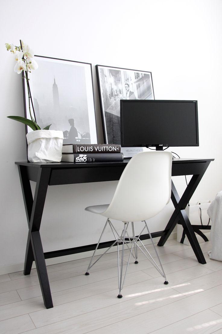 Homevialaura | Work space | home office | Eames DSR | Uashmama | coffee table books | Fotografiska posters