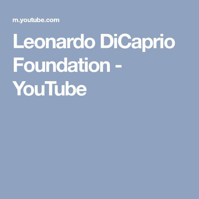 Leonardo DiCaprio Foundation - YouTube